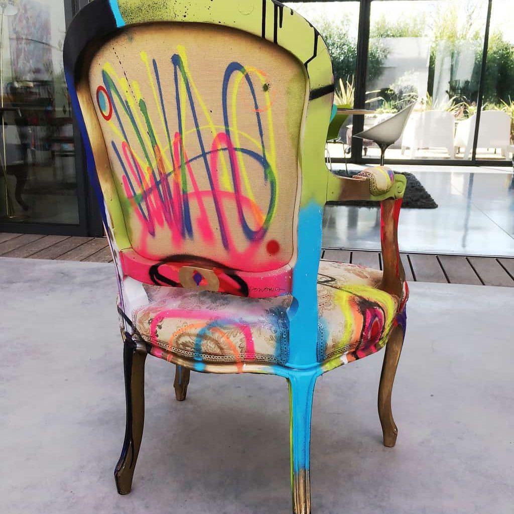 """Fauteuil customisé DONOMIQ dos """"Love Chair"""" 195"""