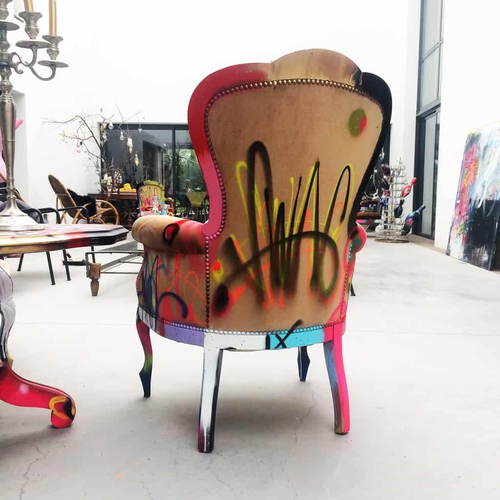 """Fauteuil customisé DONOMIQ dos """"Love Chair"""" 197"""