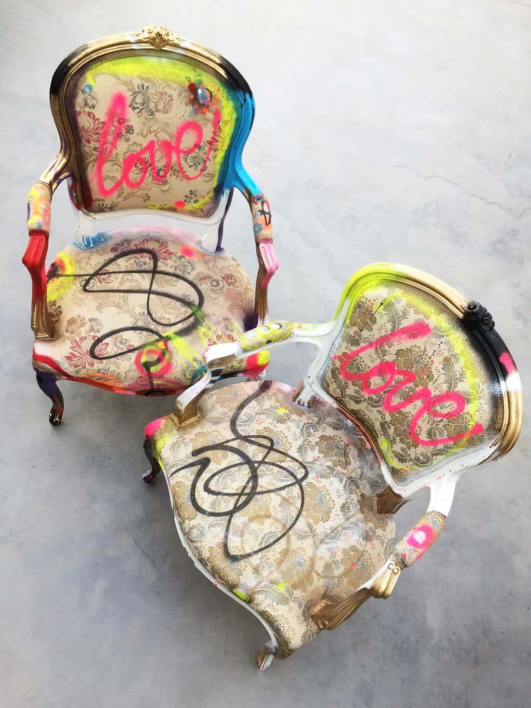 """Fauteuil customisé DONOMIQ """"Love Chair"""" 195 et 196"""