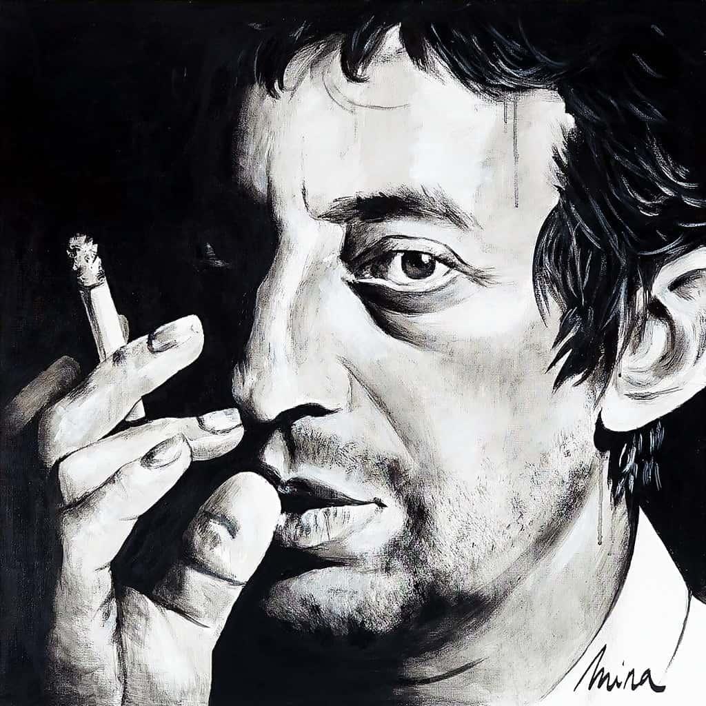 Toile Mina - Gainsbourg 01
