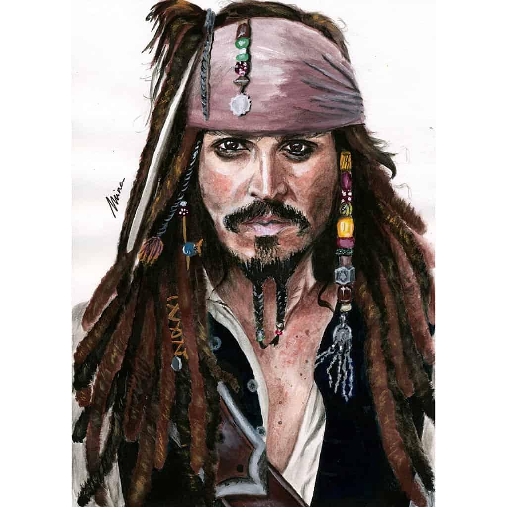 Toile Mina - Johnny Depp 02