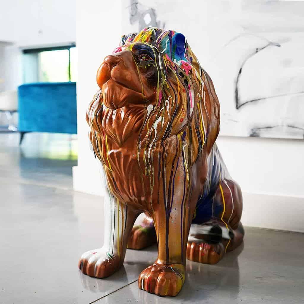 Golden king lion