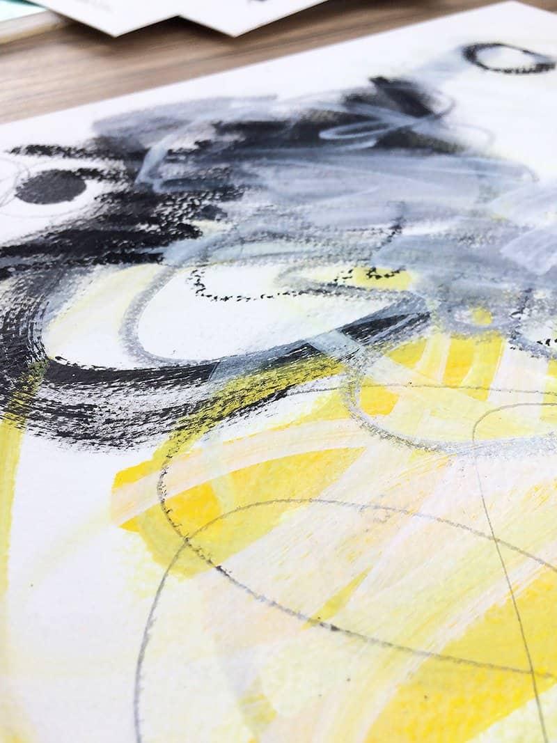 Peinture sur papier DONOMIQ - P173 - 02