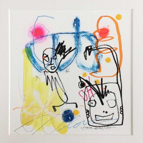Peinture sur papier DONOMIQ – P179