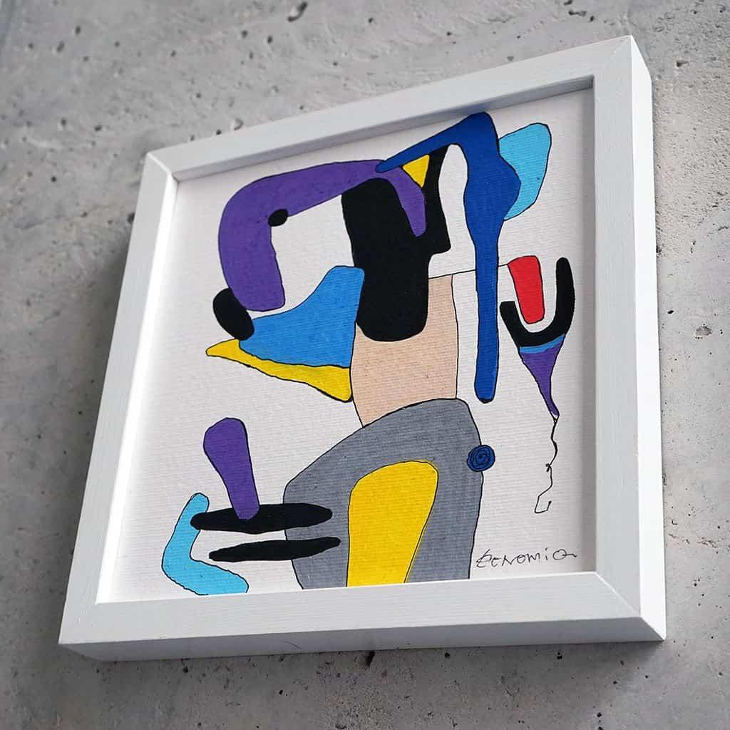 Peinture sur papier DONOMIQ - p105-03
