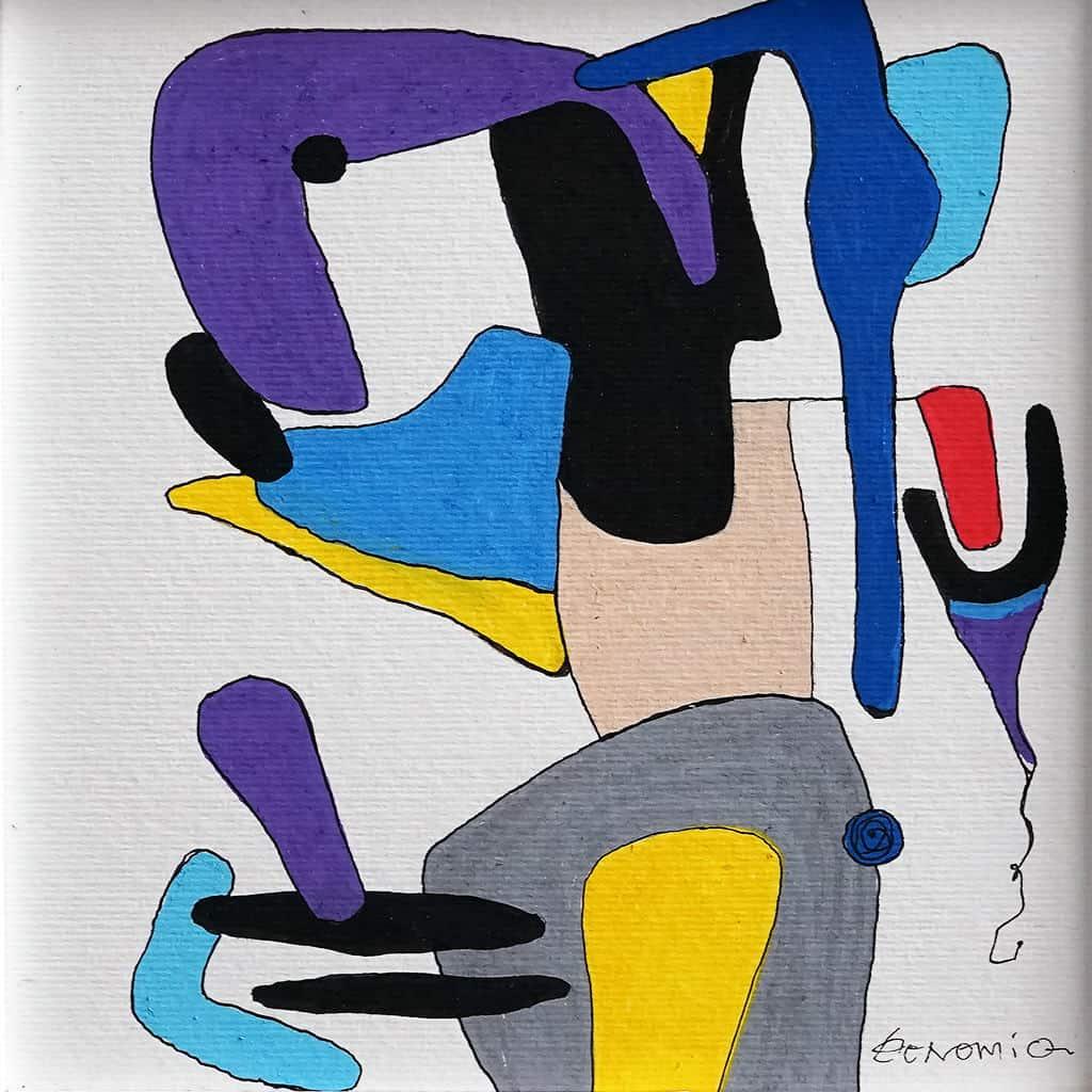 Peinture sur papier DONOMIQ - p105-04