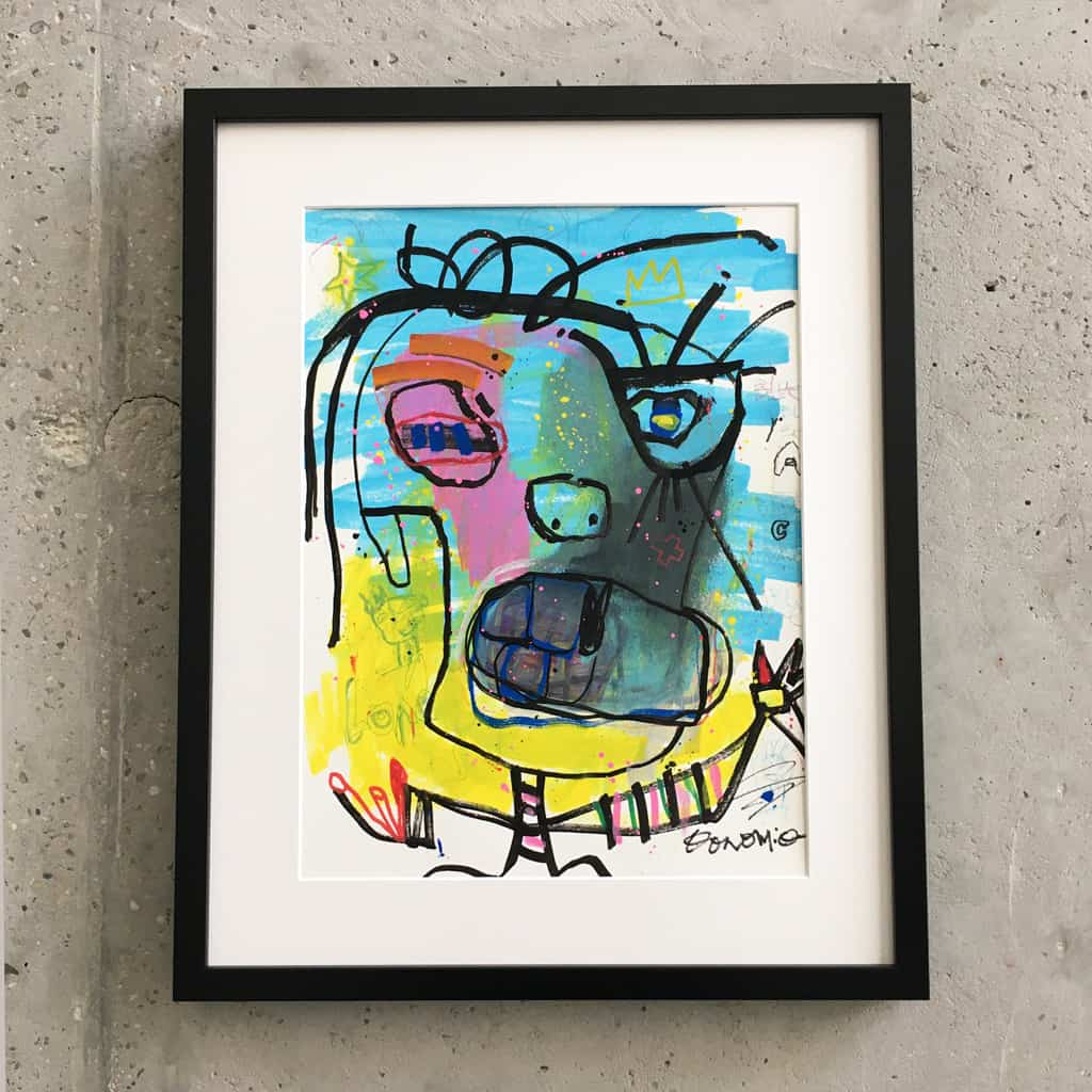 Peinture sur papier DONOMIQ – P190