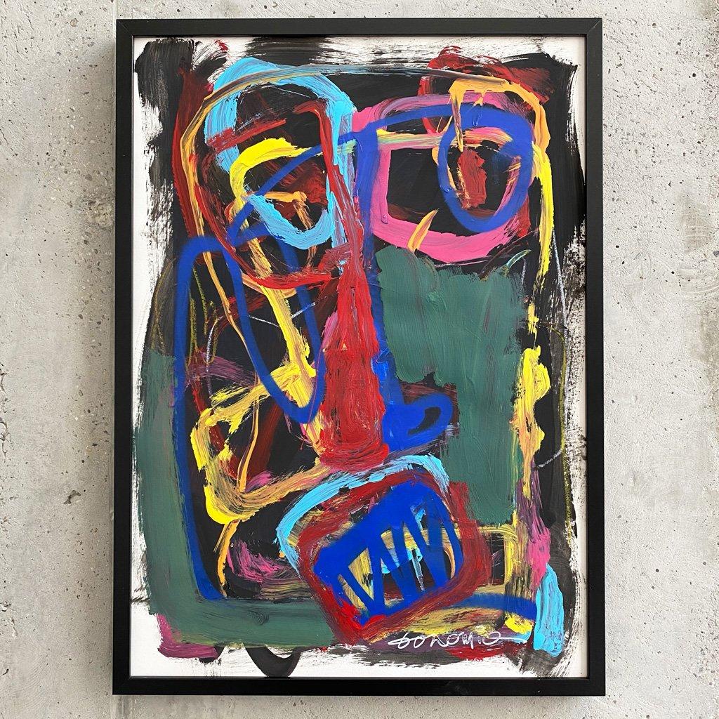 Peinture sur papier DONOMIQ – P234