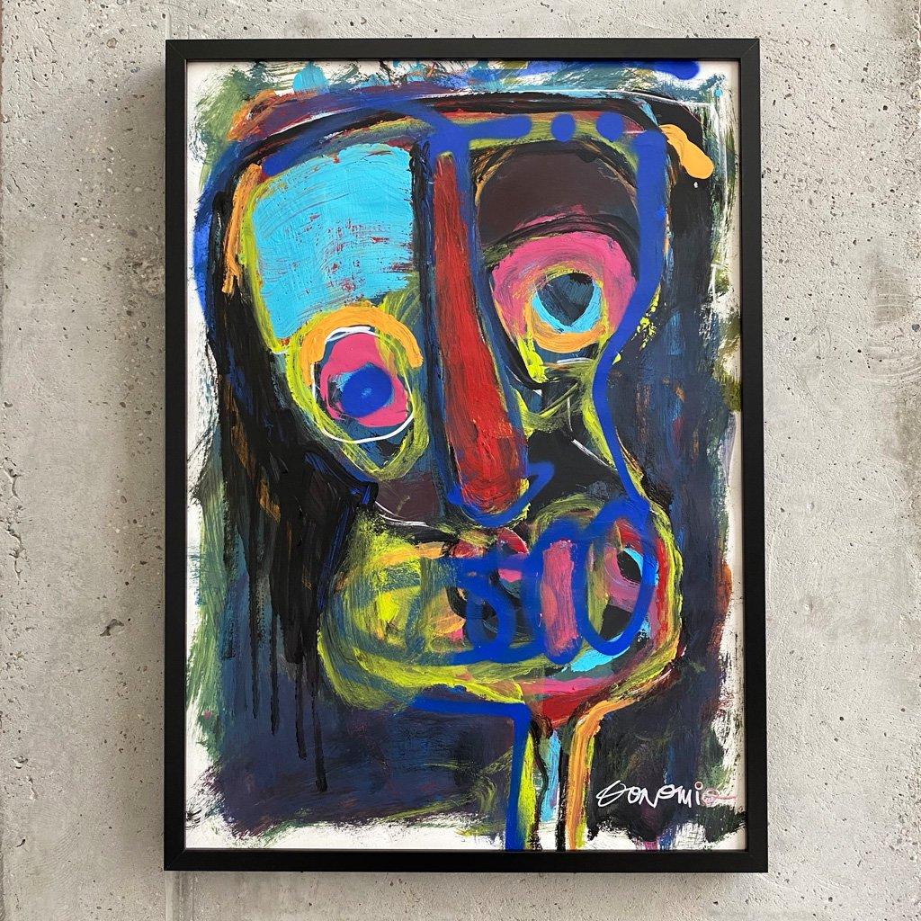 Peinture sur papier DONOMIQ – P238