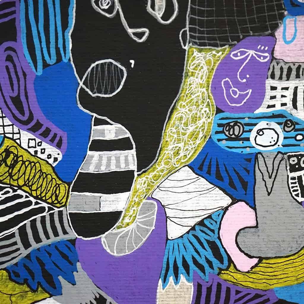 Peinture sur papier DONOMIQ - 03
